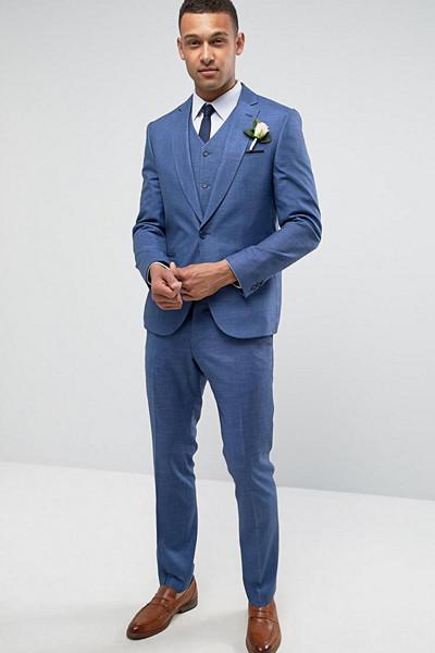 ASOS blå kostym till honom