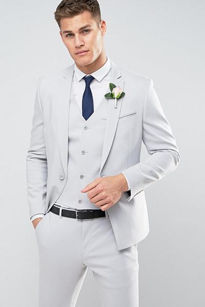 ASOS ljusgrå kostym till honom