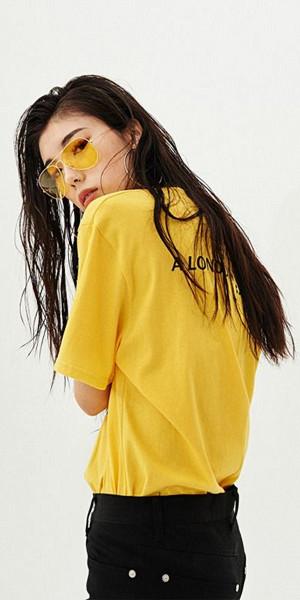 Färgmatcha gula solglasögon