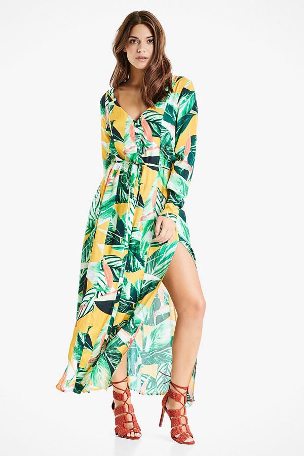 Bik Bok multifärgad klänning med långa armar