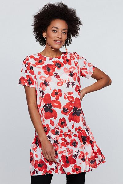 Gina Tricot vävd blommig klänning