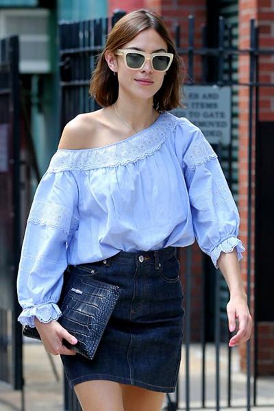 Inspirationsbild jeanskjol söt men cool