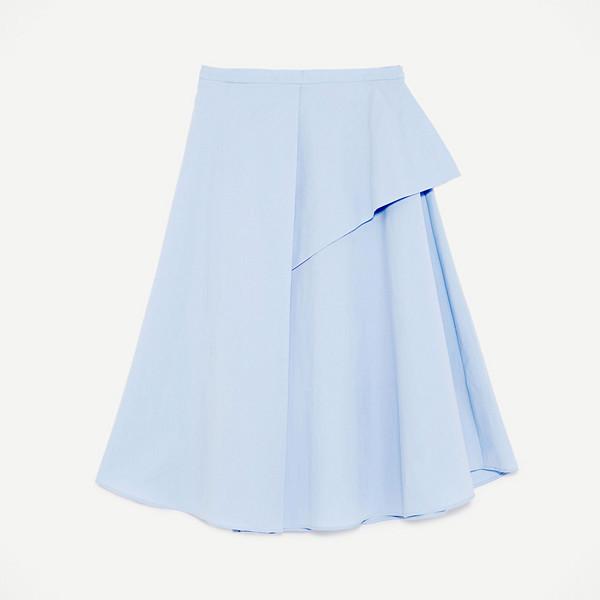 Zara utställd kjol i blått