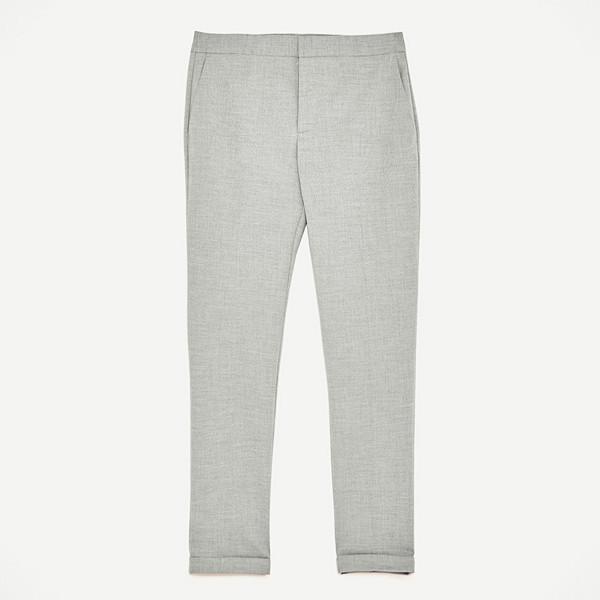 Zara ljusgrå byxor stuprörsmodell