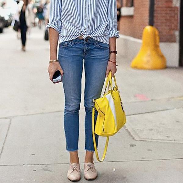 Inspiration gul handväska