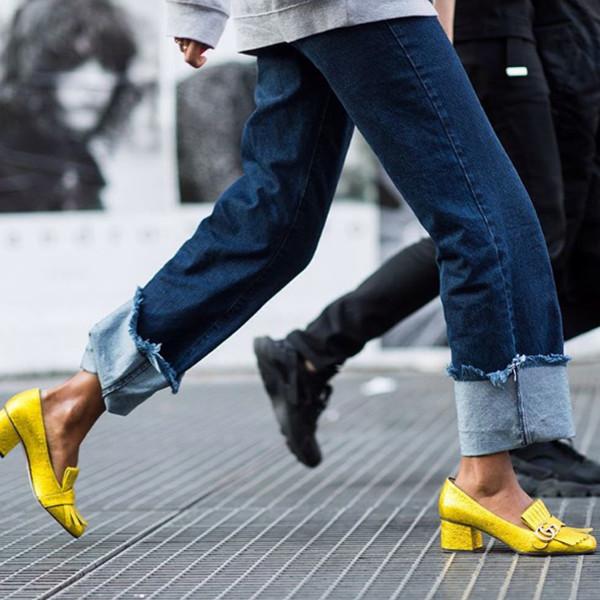 Inspiration gula sandaletter
