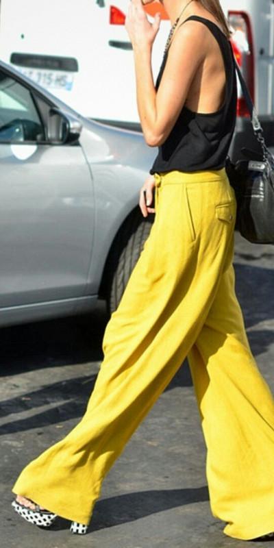 Inspiration gul pyjamas-look (2)