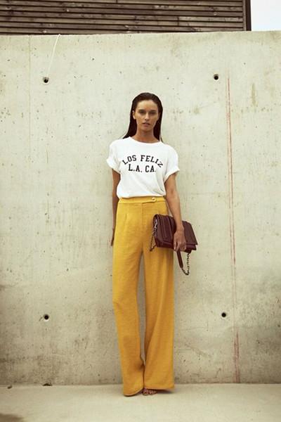 Inspiration gul pyjamas-look (1)