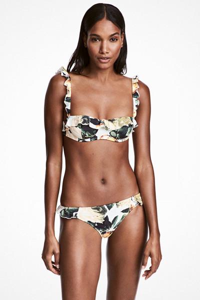 H&M mönstrad volang-bikini