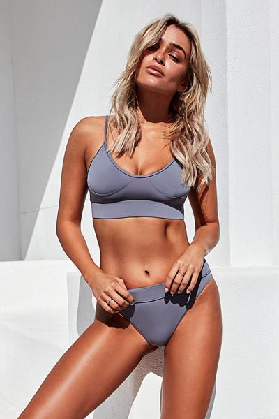 Chiquelle x Swimwear grå bikini