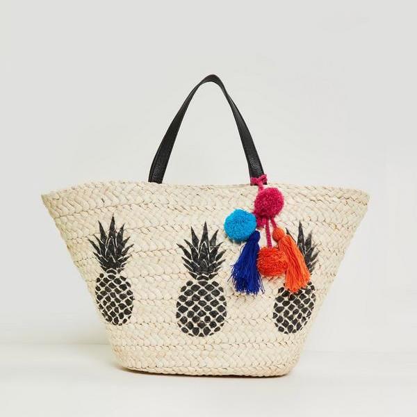 Missguided strandväska med mönster och färgglada detaljer