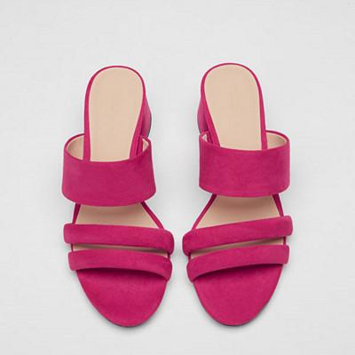 Pull&Bear rosa sandaler med klack