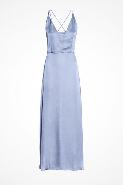 H&M lång duvblå chiffongklänning