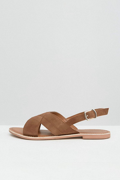 New Look bruna sandaler med remmar