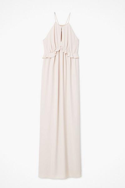 Mango nude-färgad klänning med volang