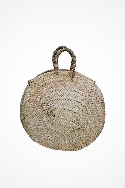 Chêne Bags liten rund stråväska