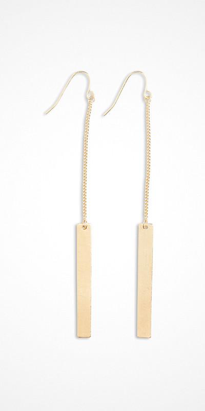 Lindex långa minimalistiska örhängen