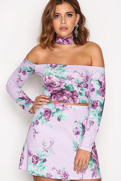 Nicole Loves Nelly A-linjeformad kjol med blommor