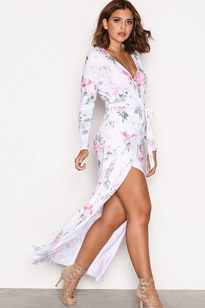 Nicole Loves Nelly blommig maxiklänning