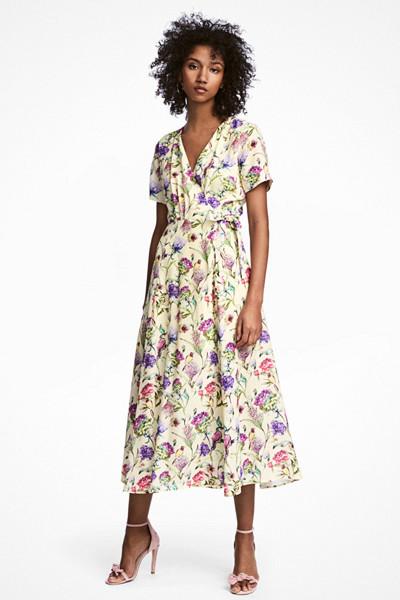 [H&M blommig klänning