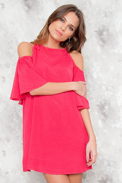 JFR ceriserosa klänning