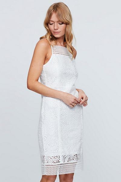 Gina Tricot vit spetsklänning