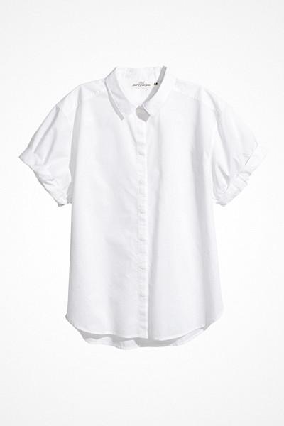 H&M kortärmad vit bomullsskjorta
