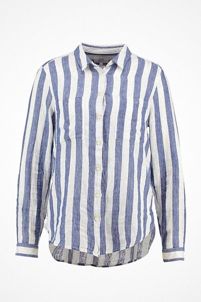 Q/S designed by blå vit randig linneskjorta