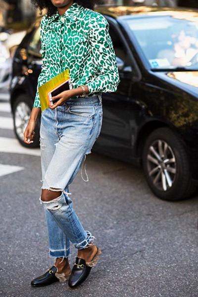 Inspiration leopardmönstrad skjorta