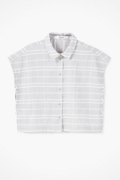 Mango randig skjorta med snörning i sidorna
