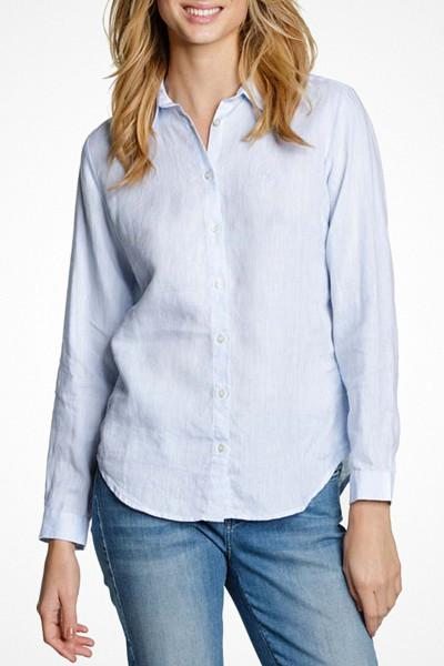 Morris ljusblå linneskjorta