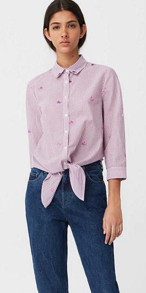 Mango knytskjorta med tryck