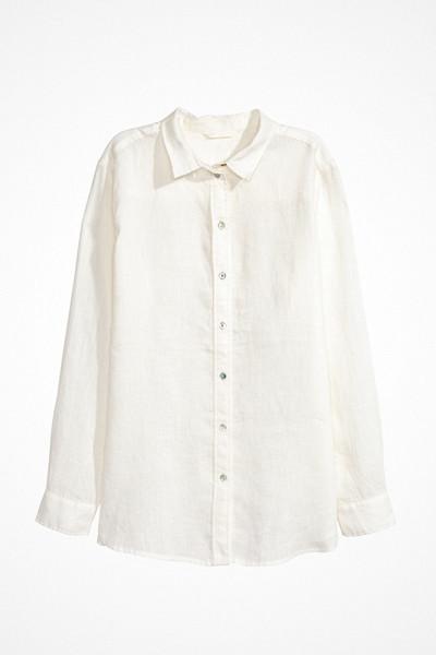 H&M vit linneskjorta