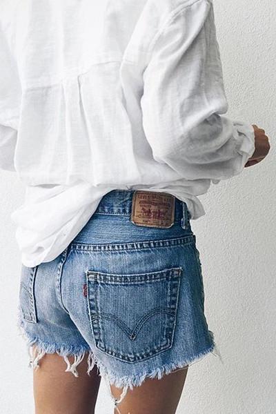 Inspiration vit linneskjorta