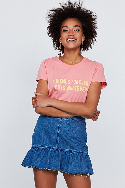 Gina Tricot rosa t-shirt med tryck