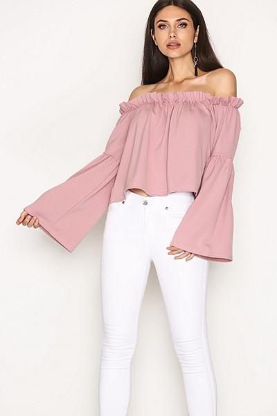 NLY Trend rosa off shoulder-blus