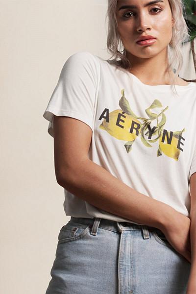 Aéryne T-shirt med citron-print