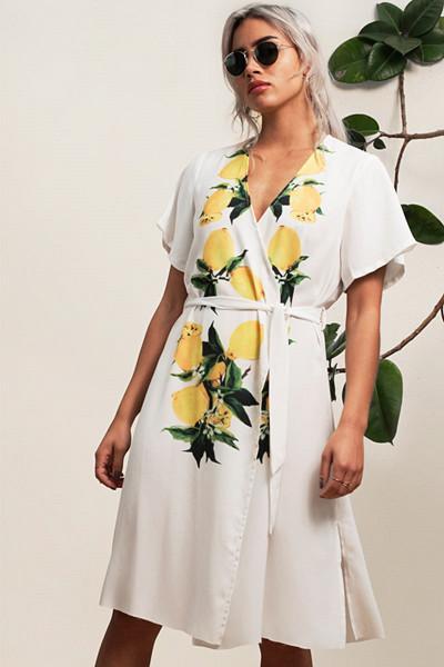 Aéryne klänning med citrontryck