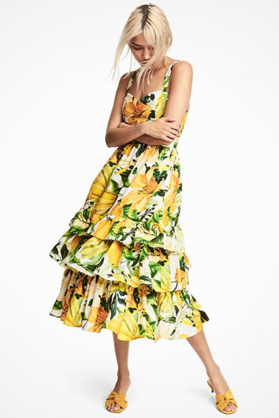 H&M klänning med citron-mönster