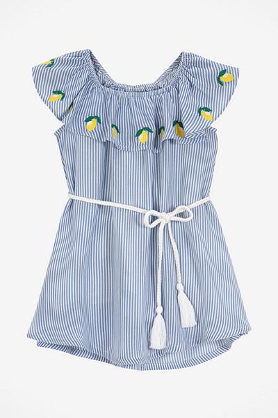 Ellos barnklänning med citrontryck