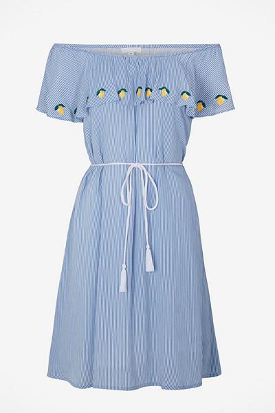 Ellos blå singoallaklänning med citrontryck