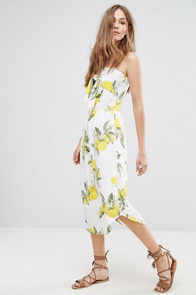 Moon River klänning med citron-print