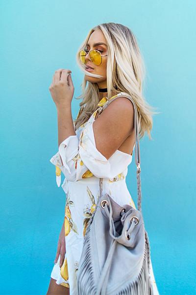 Angelica Blick i klänning från For Love & Lemon