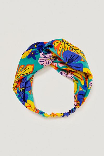 Zara turbanhårband med blomtryck