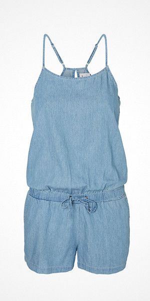 Vero Moda ljusblå playsuit i denim