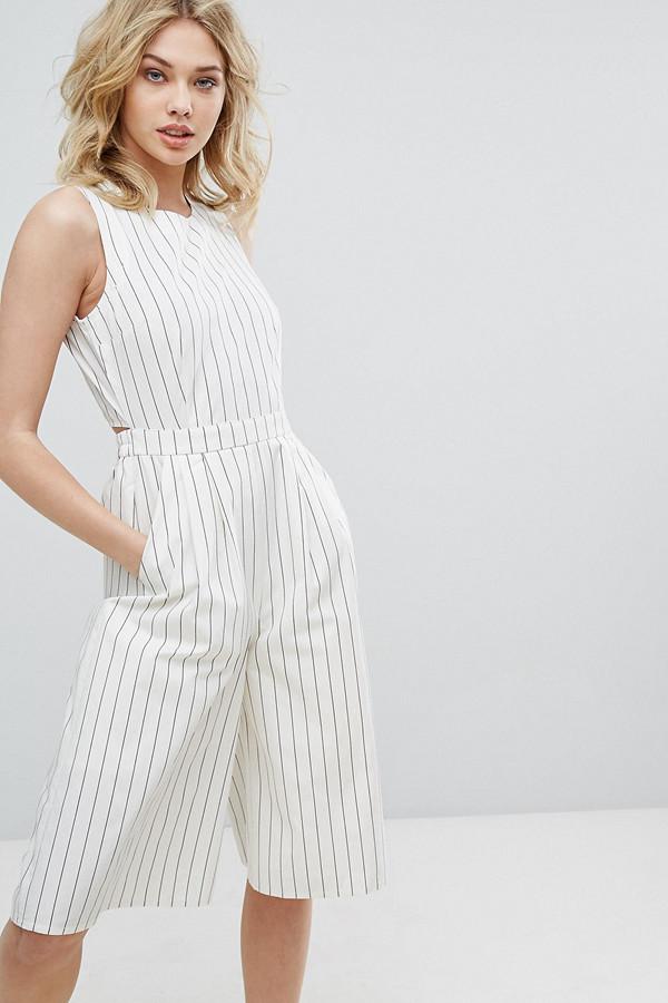 Vero Moda randing jumpsuit med öppen rygg