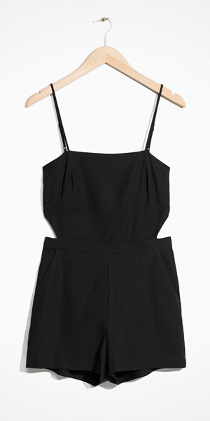 & Other Stories svart jumpsuit med knyte i ryggen