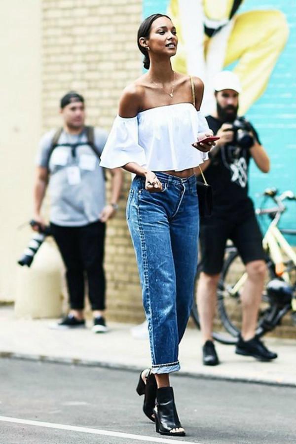 Inspiration jeans och vitt