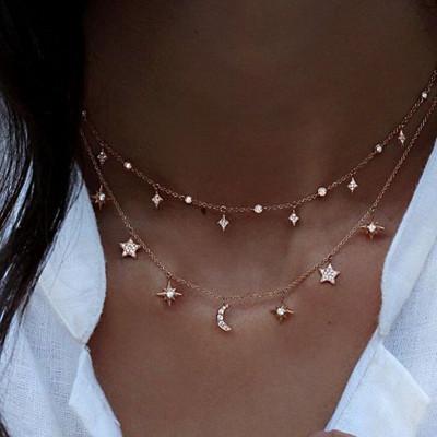 Inspiration guldfärgat halsband