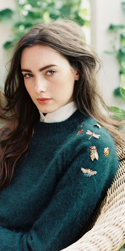 Inspiration pins på tröjan
